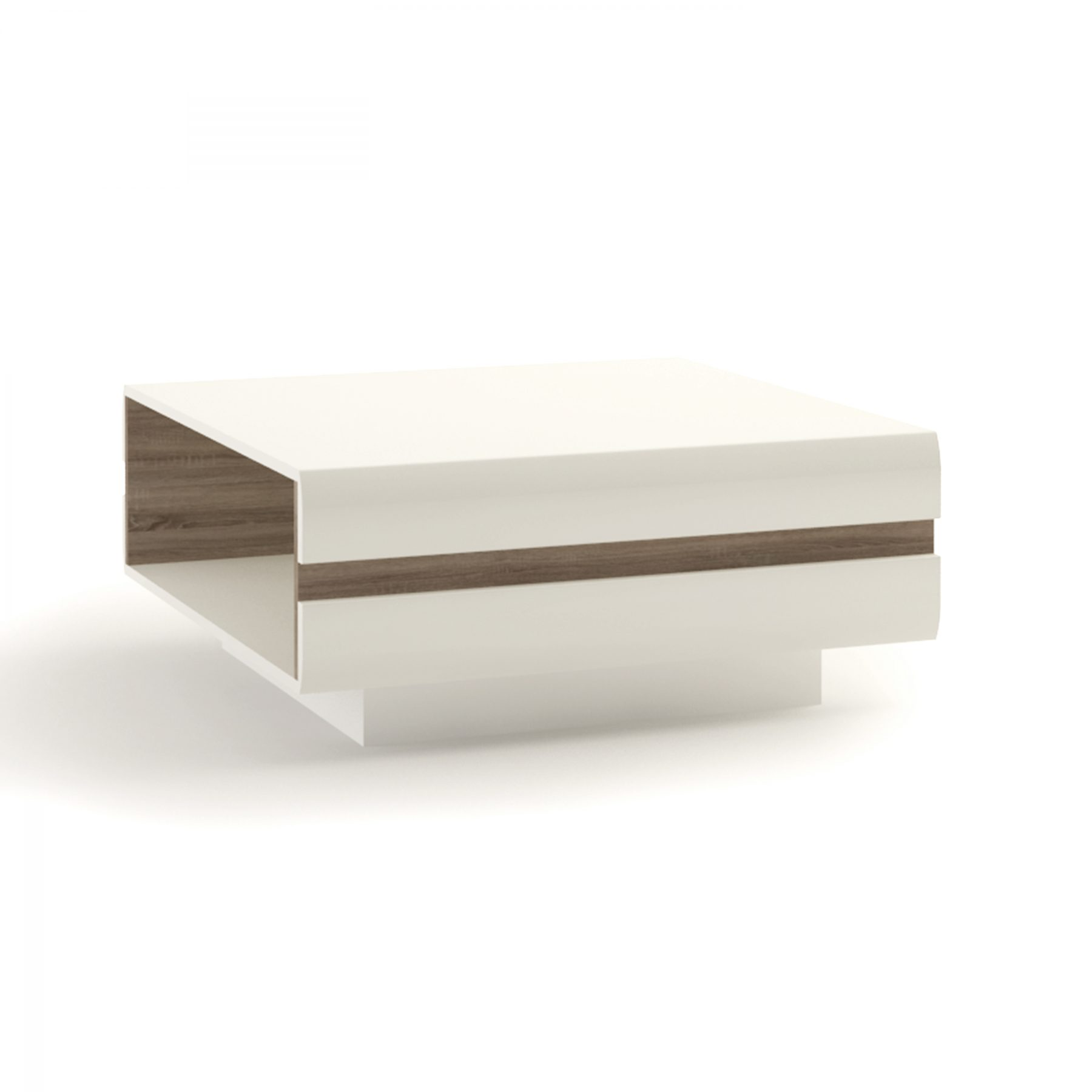 Mode White Gloss Coffee Table with Truffle Oak Trim