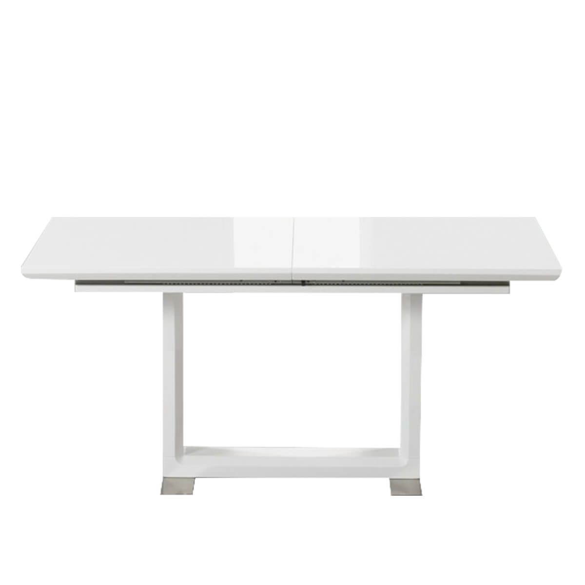 Beckley Extending White High Gloss Dining Table 1