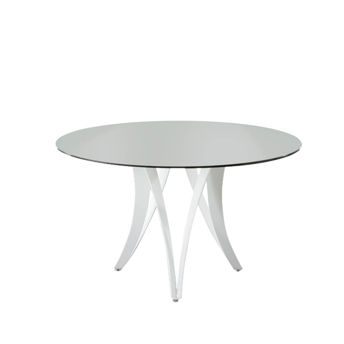 Berlin Dining Table Glass & White Gloss 1