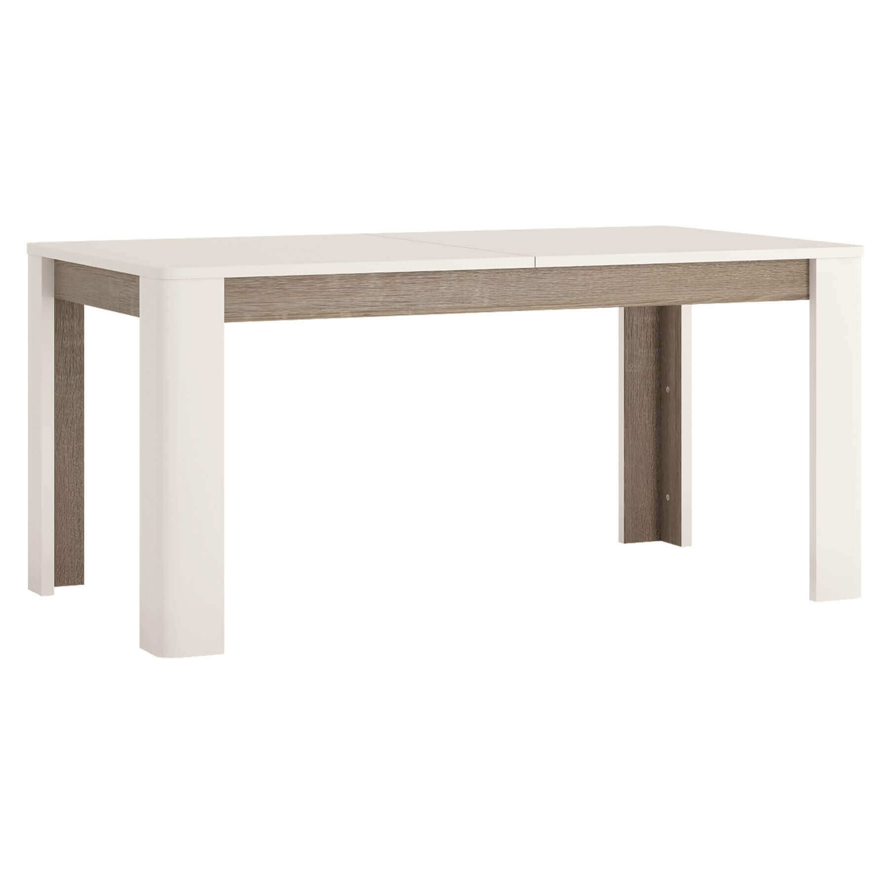 Mode Extending White Gloss Dining Table 1