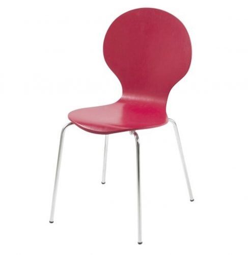 Hugo Birch Molded Red Dining Chair
