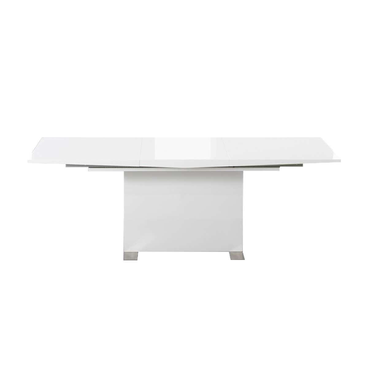 Marlia Extending White High GLoss Dining Table 1