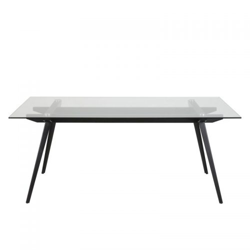 Monty Clear Glass Dining Table