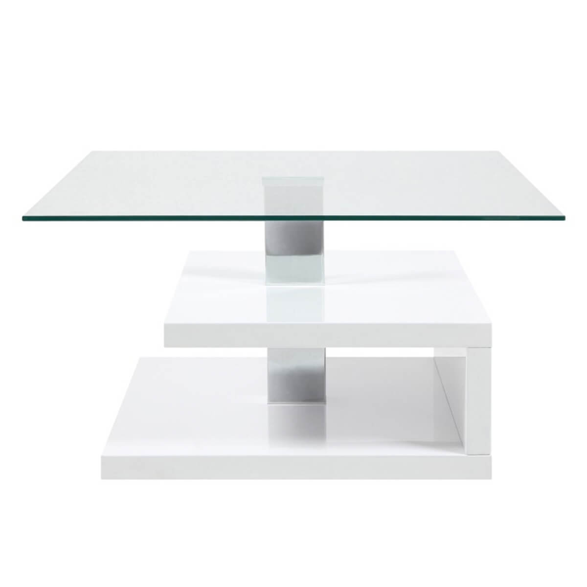 Paris White Gloss and Glass Coffee Table