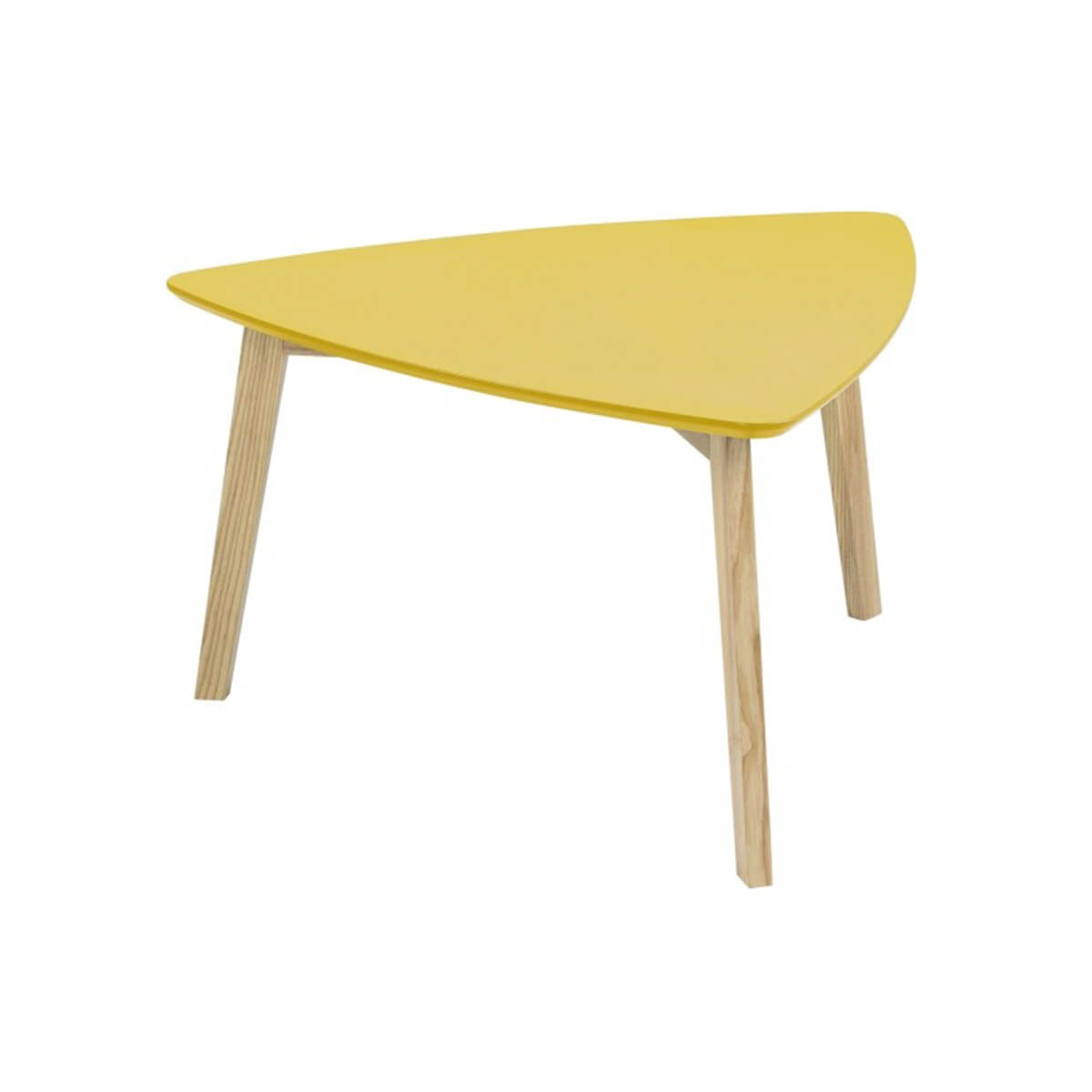 Vitis Yellow Triangular Coffee Table