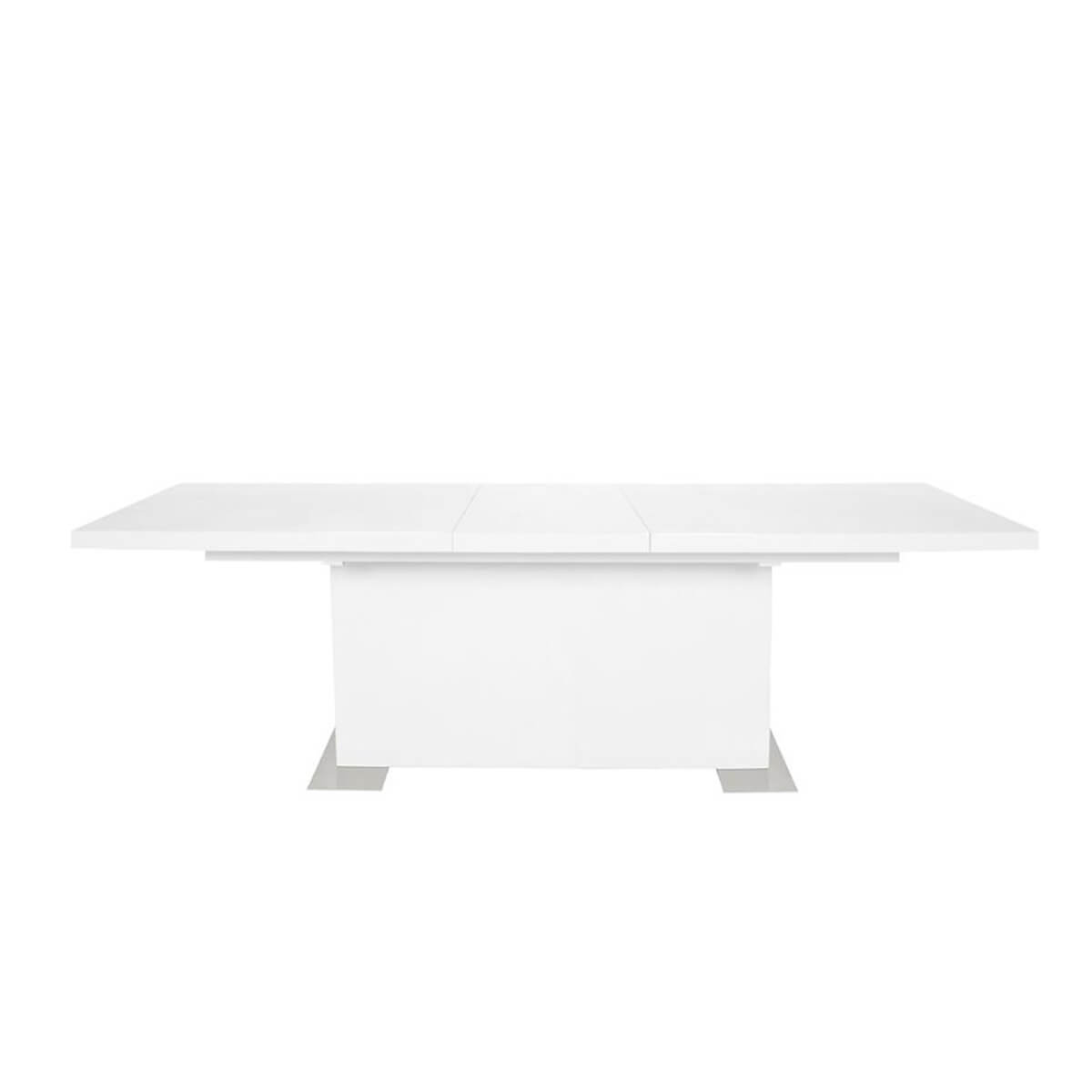 Brick Extending Dining Table White High Gloss 1