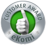 Ekomi Customer Award at FADS.co.uk