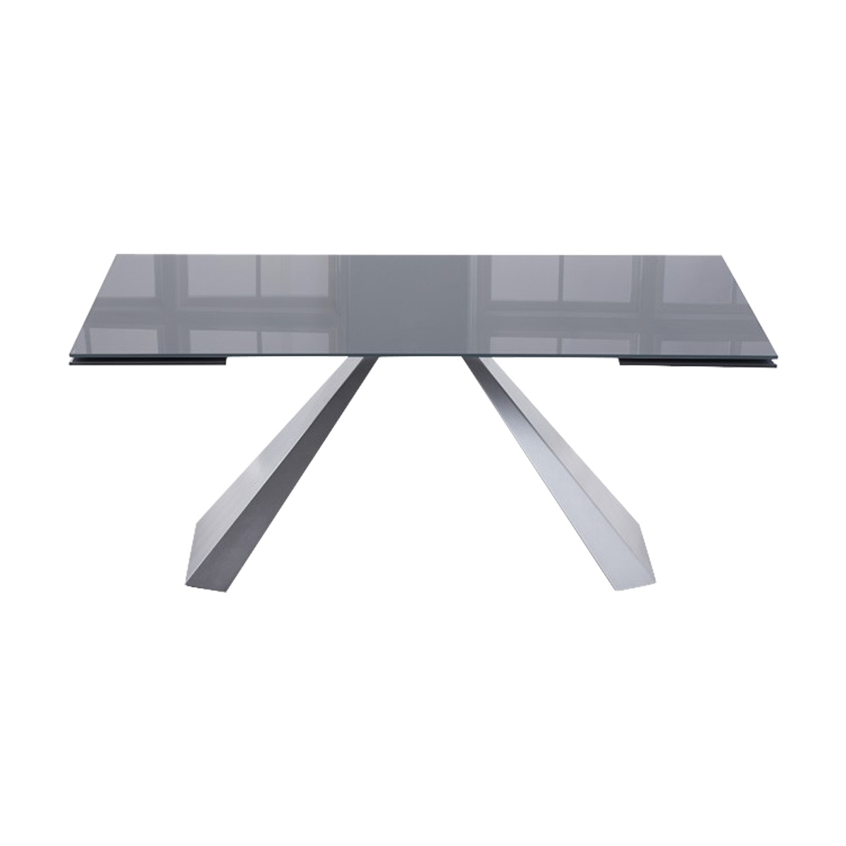 Lyon Dark Grey Glass Dining Table