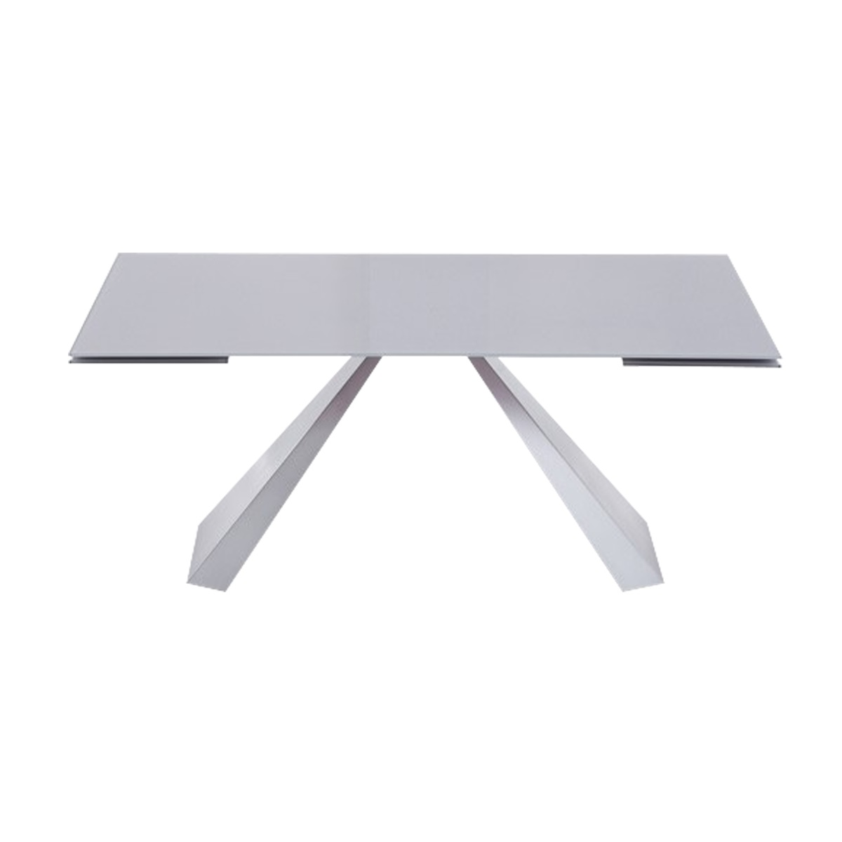 Lyon Light Grey Glass Dining Table