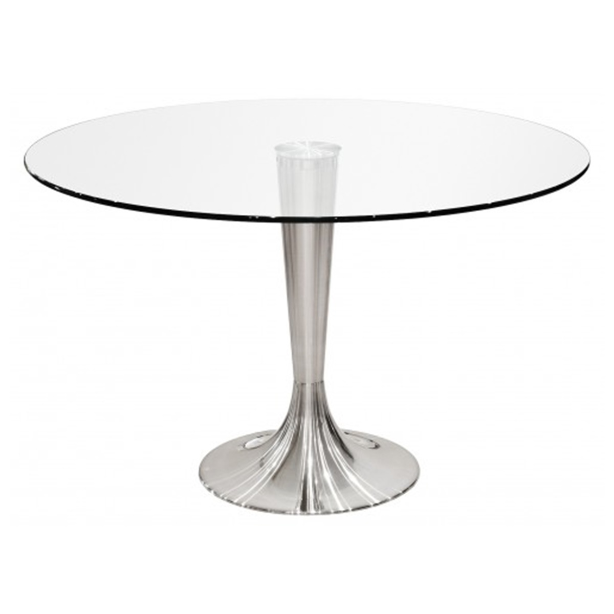 Trixie Round Glass Dining Table