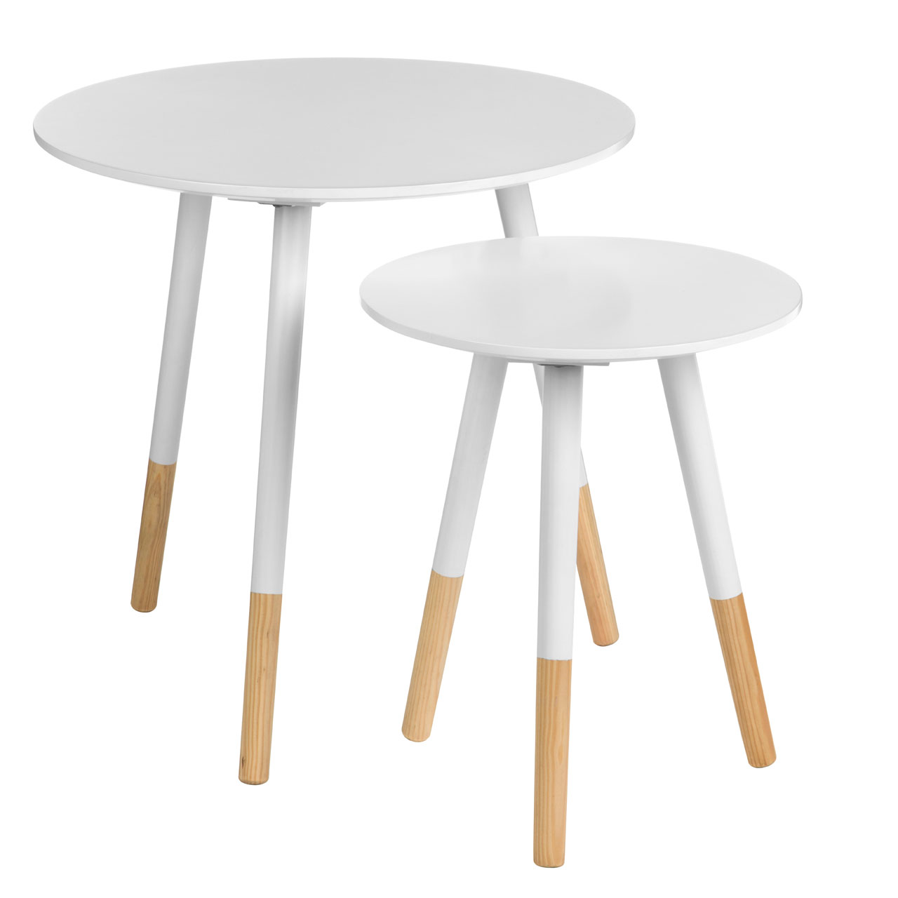 Viborg 2 Side Tables White Wooden