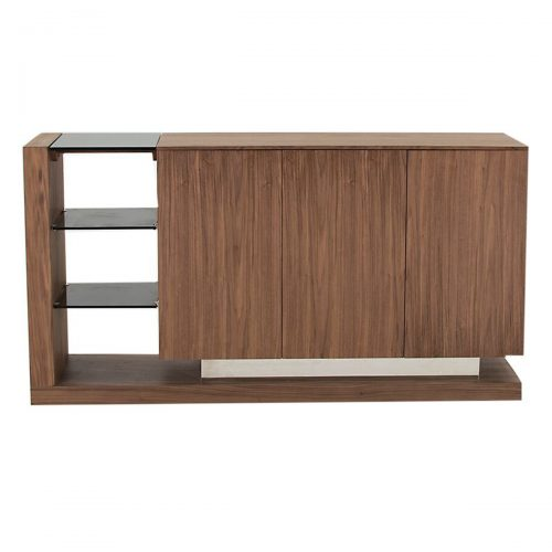 Almara Sideboard Walnut & Steel