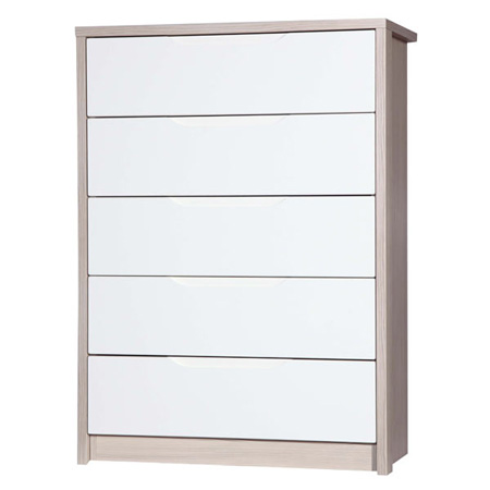 April-five-drawer-chest-champagne-and-cream