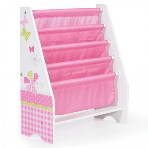 Butterfly Bookcase Pink & White