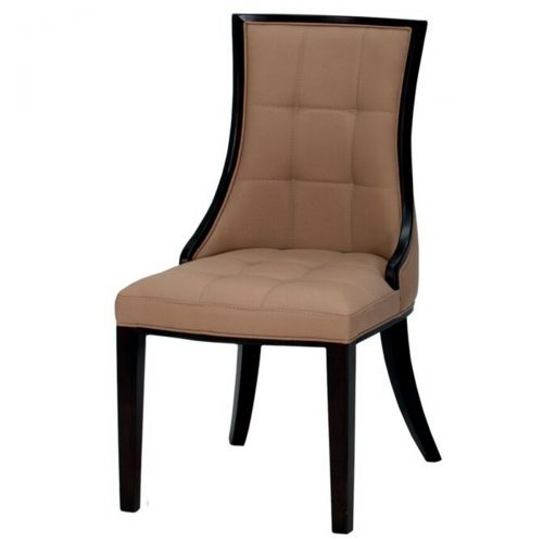 Cassia Dining Chair Beige Faux Leather