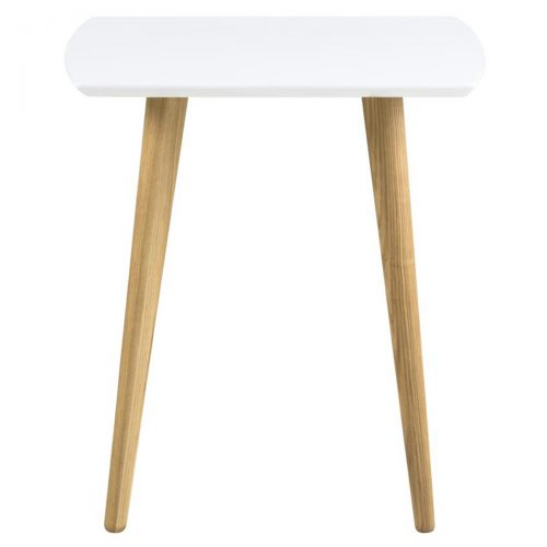 Elise Lamp Table White High Gloss & Ash