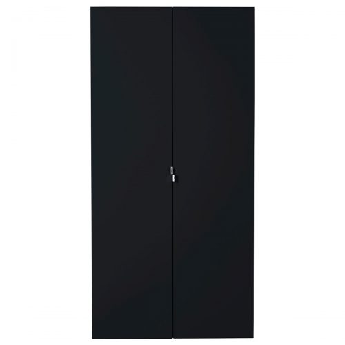 First 2 Door Wardrobe 101cm Black High Gloss