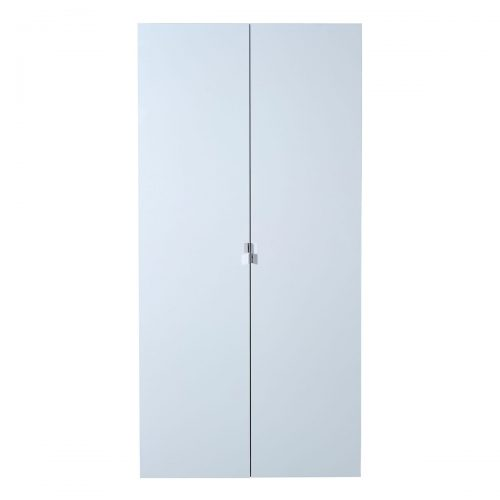 First 2 Door Wardrobe 101cm White High Gloss