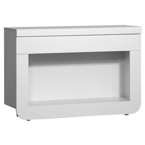 Floyd Console Table With Drawer & LED Lights White High Gloss 1