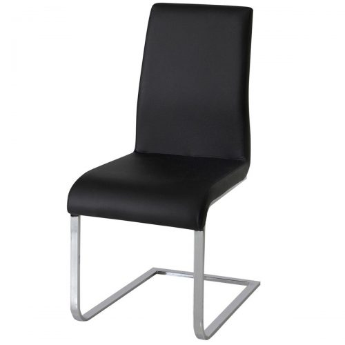 Hue Faux Leather Dining Chair Multi Coloured - Black