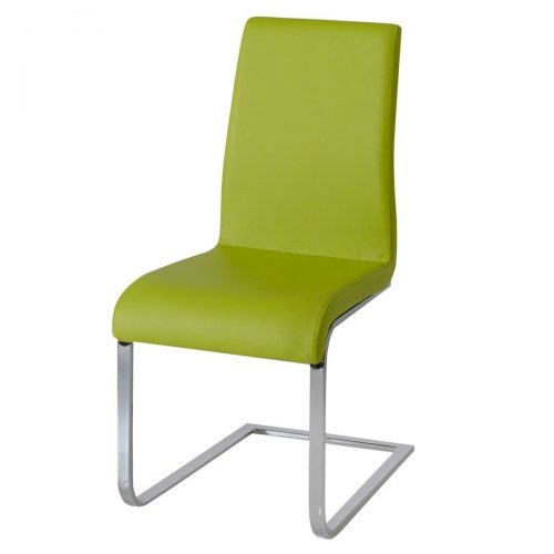 Hue Faux Leather Dining Chair Multi Coloured - Green