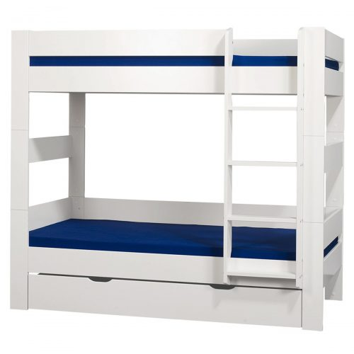 London Bunk Bed With Under Bed Drawer White