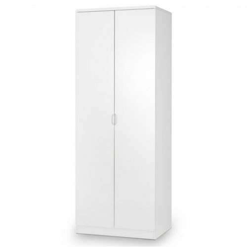 New York 2 Door Narrow Wardrobe 74cm White High Gloss