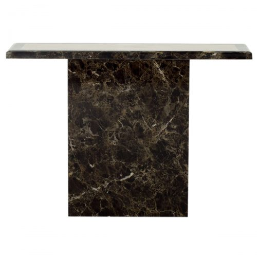 Ravelli Marble Console Table Brown