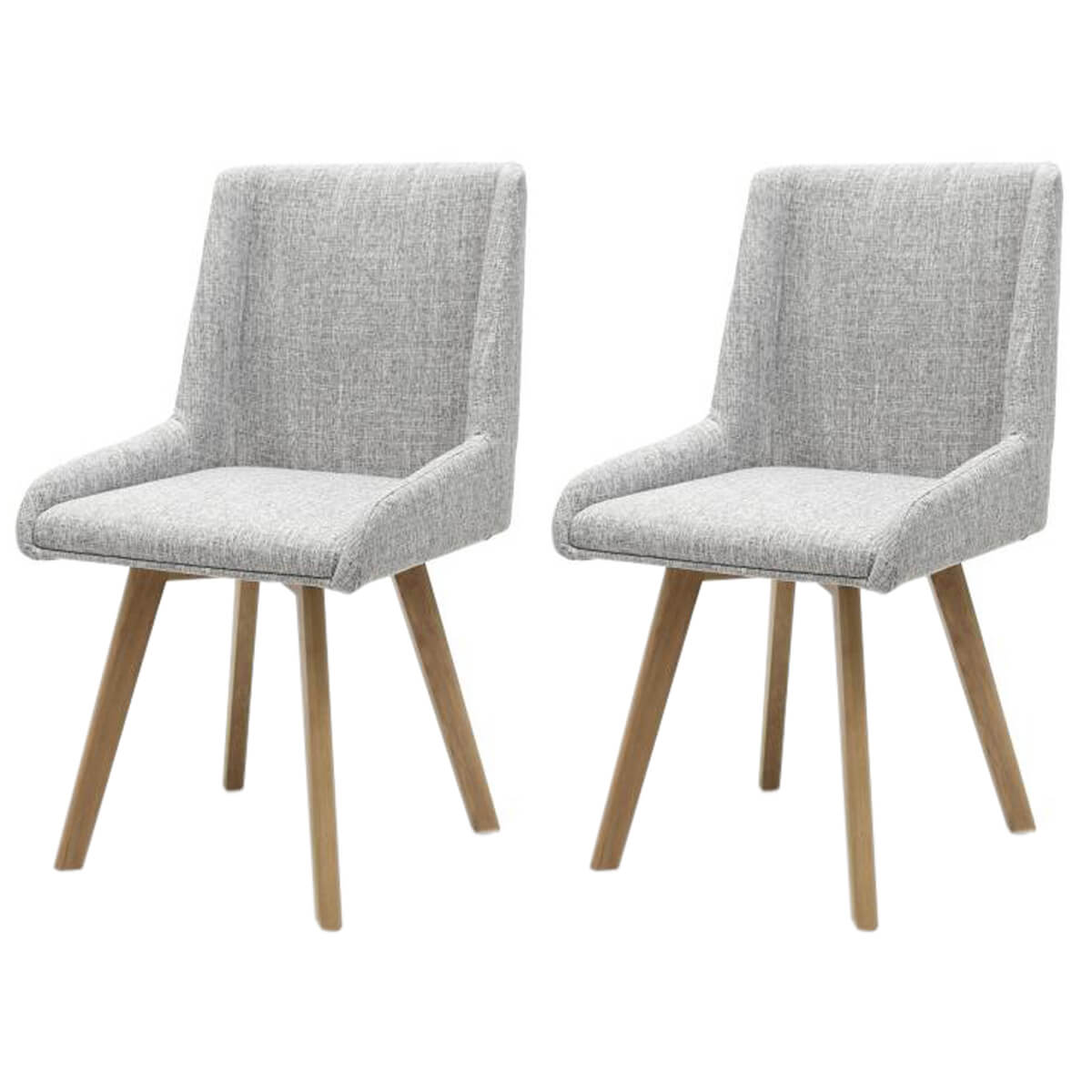 Skandi Dining Chairs Fabric Grey