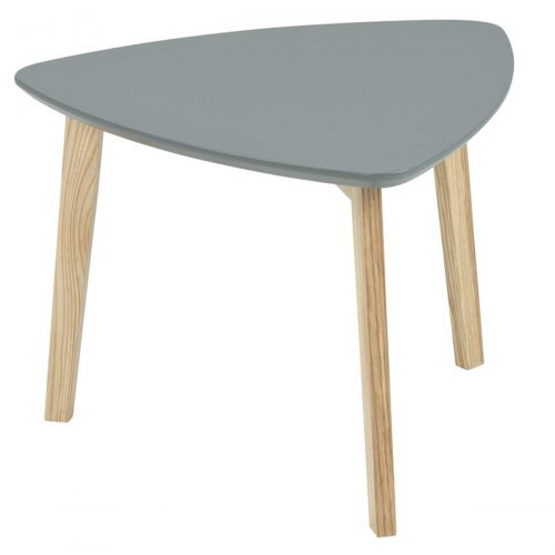 Vitis Lamp Table Dark Grey Lacquered & Ash