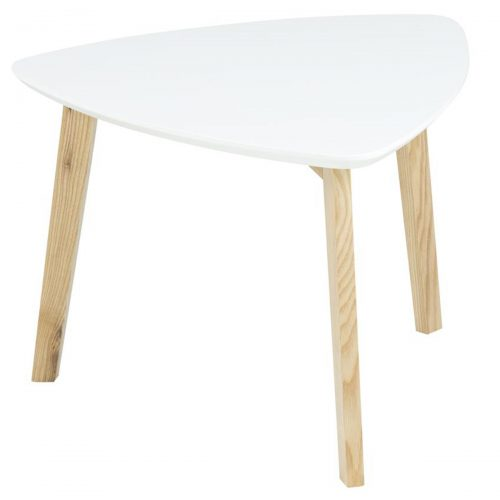Vitis Lamp Table White Lacquered & Ash