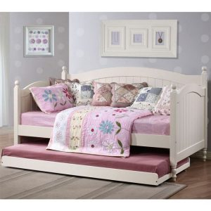 Bloomsbury White Daybed With Trundle And Mattresses