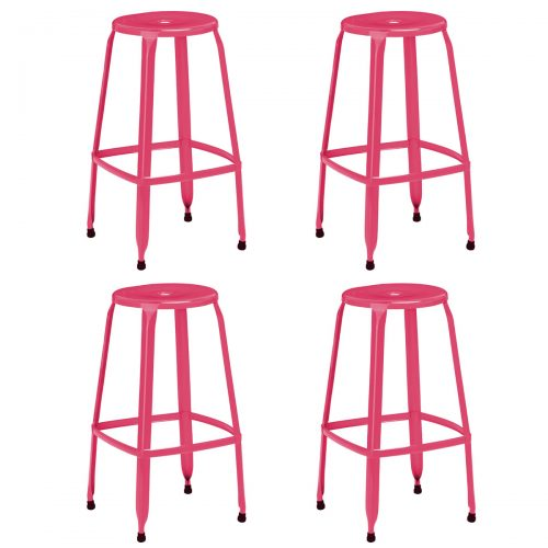 Rainbow Pink Bar Stools Pack of 4