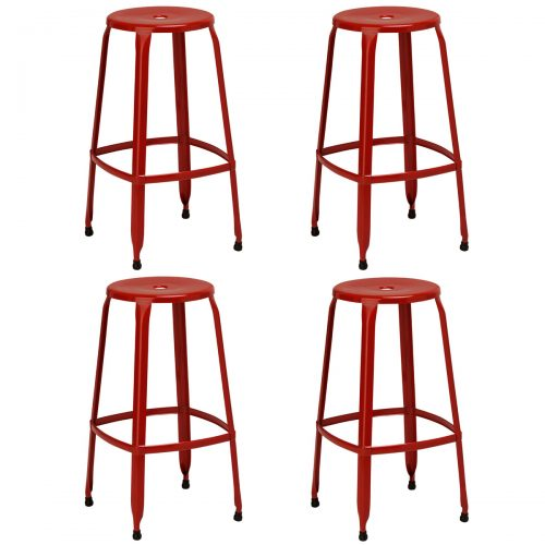 Rainbow Red Bar Stools Pack of 4