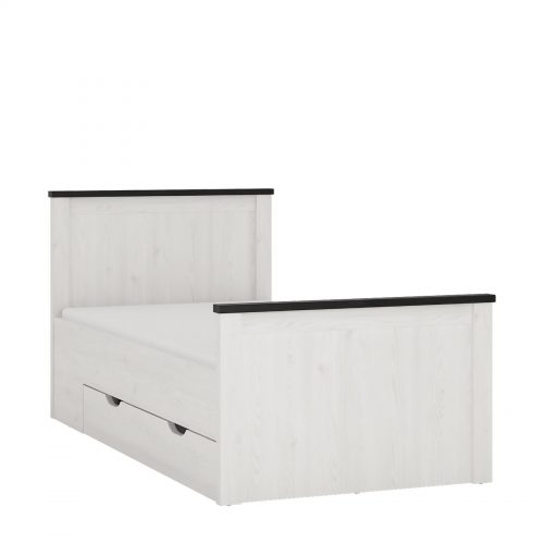 Provence Single Bed with Storage Drawer 1