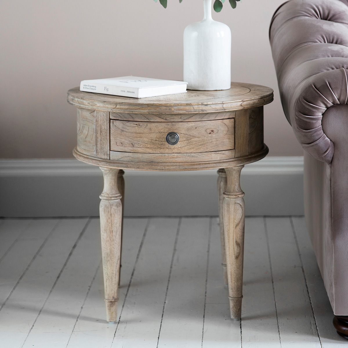 French Colonial round side table at FADS.co.uk