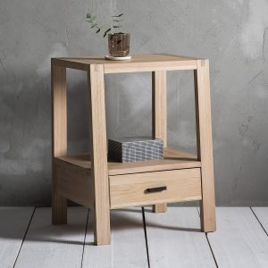 Narrative Solid Oak Bedside Table at FADS.co.uk