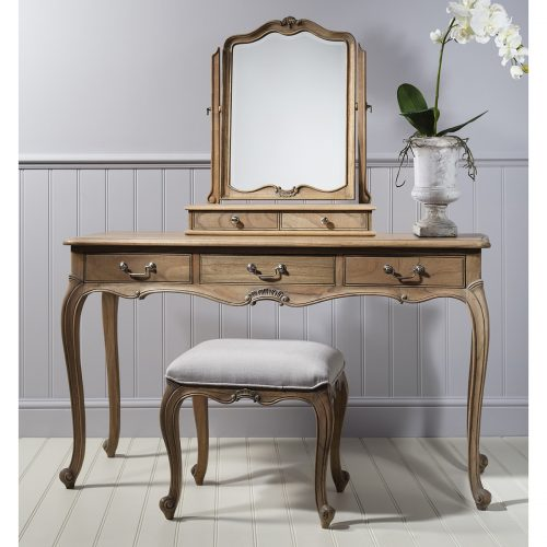 Madeleine Weathered Ash Dressing Table 1