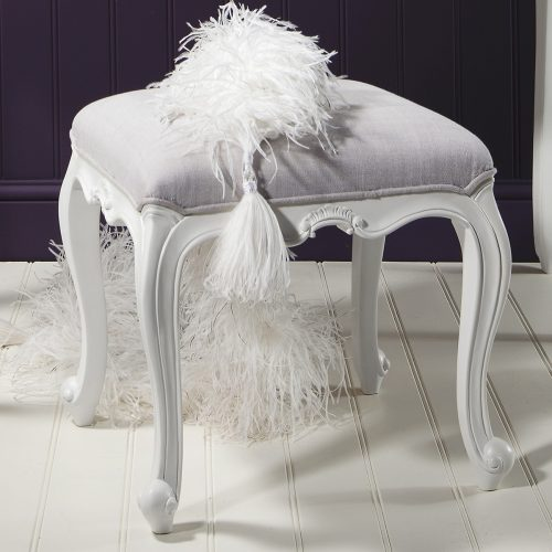 Madeleine chalk dressing table stool