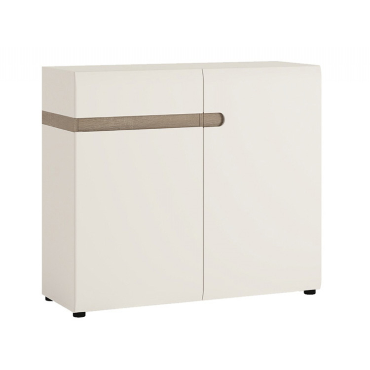 Mode-sideboard-2-door-and-one-drawer-white-gloss-and-oak