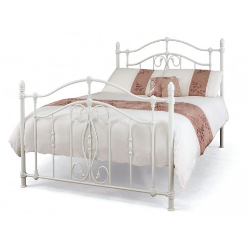 Nice-glossy-white-bedframe