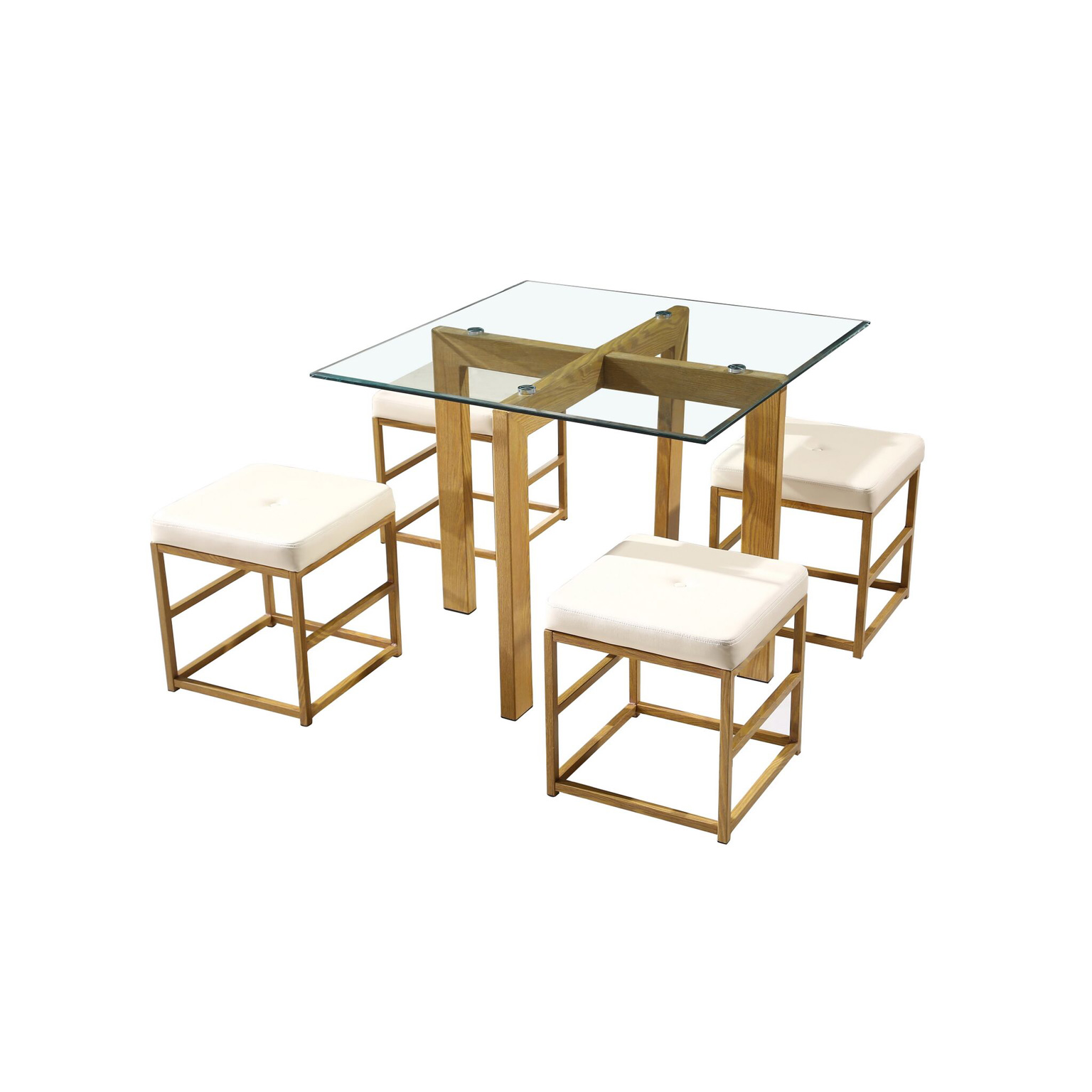 Cube Dining Set Cream