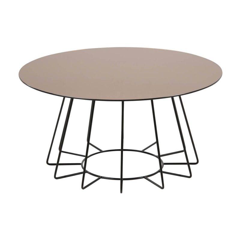 Casia Bronze Glass Coffee Table