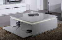 Logan White Gloss Coffee Table with Storage 5