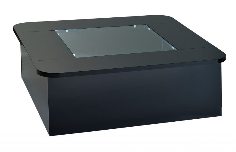 Floyd Black Coffee Table with Storage & Lights