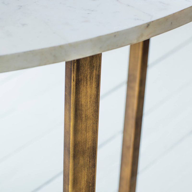 Arden Grace Chic White Marble Coffee Table 3