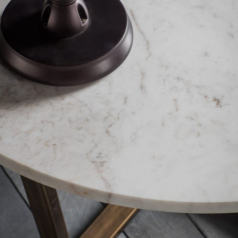 Arden Grace Chic White Marble Coffee Table 1