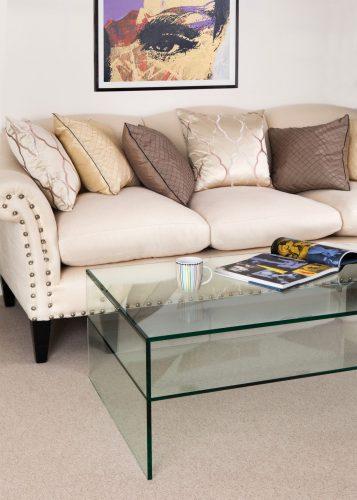 Demure Rectangular Glass Coffee Table 1