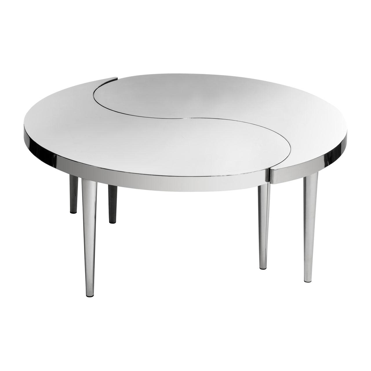 Kyra White Gloss Rotating Coffee Table