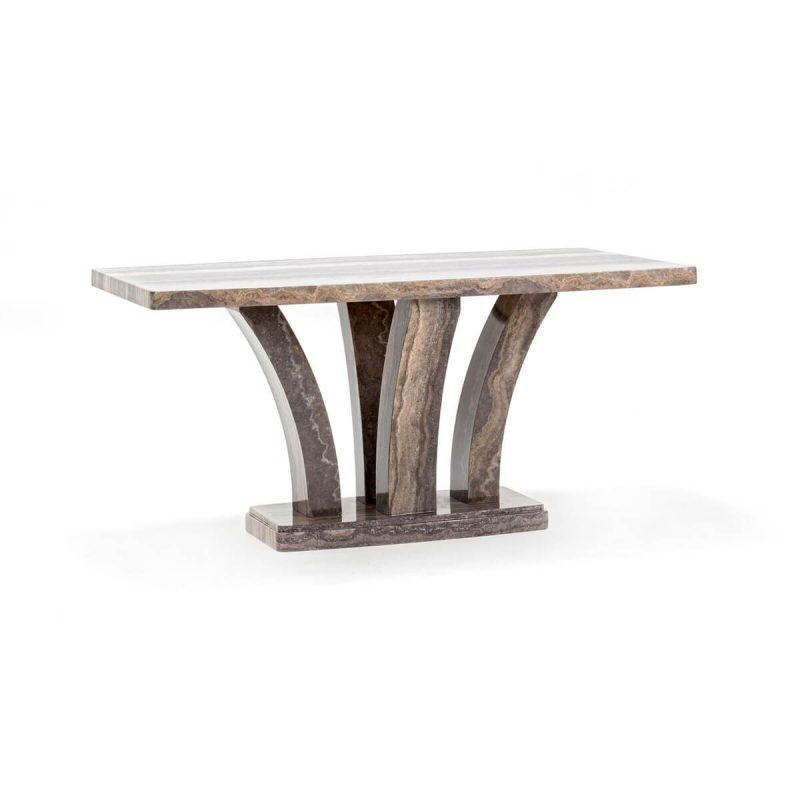 Amalfi Dining Table Angle Pearl Grey